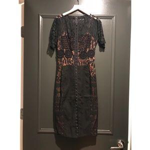 Anthropologie Carissima Sheath Dress by Byron Lars